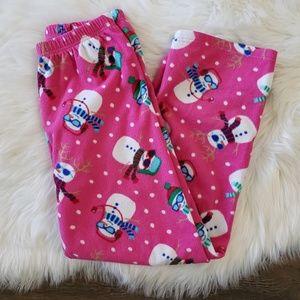 B2G1 Children Place Snowman Holiday Fleece PJ Pant